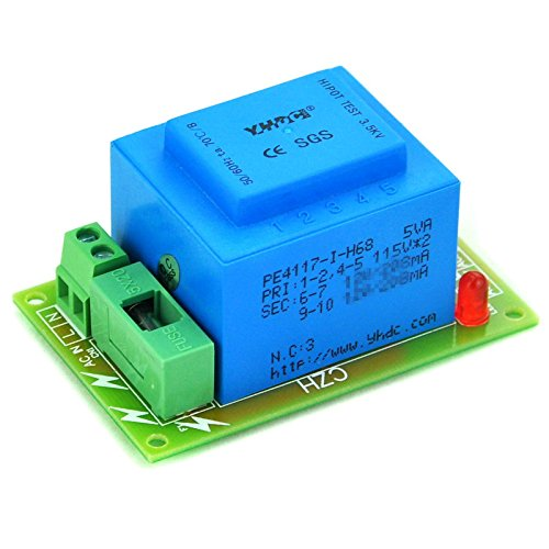 Electronics-Salon Primary 115VAC, Secondary 24VAC, 5VA Power Transformer Module, D-1005/D, AC24V