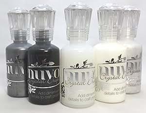 Nuvo Crystal Drops - Gloss White, Ebony Black, Ivory Seashell, Liquid Mercury & Morning Dew