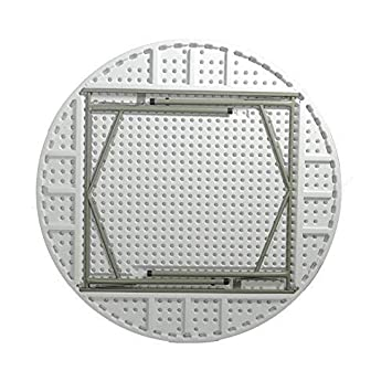 AOLI Mesa plegable de plástico Mesa de comedor grande para el ...