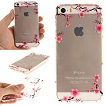 NEXCURIO iPhone 5S / SE / 5 Case Clear Soft Silicone Shockproof Scratch Resistant Protective Cover for Apple iPhone 5S / SE / 5 (Pattern #2)