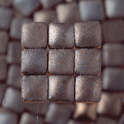 MosaicMicros Mini Mosaic Tiles Ceramic Glazed 5 x 5 x 3 mm 10 g ~ 100 pcs. Anthracite Metallic (Tiles Metallic Mosaic Mini)