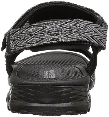 Negro gris Sandals Walk Runyon 14644 Outdoors Go Skechers wYavC0q