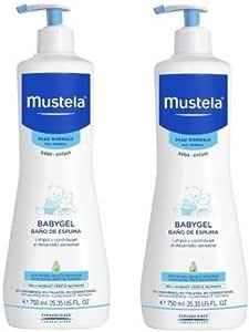 Mustela, Baño De Espuma, Pack of 2 x 750 ml (total:1500 ml): Amazon.es: Belleza