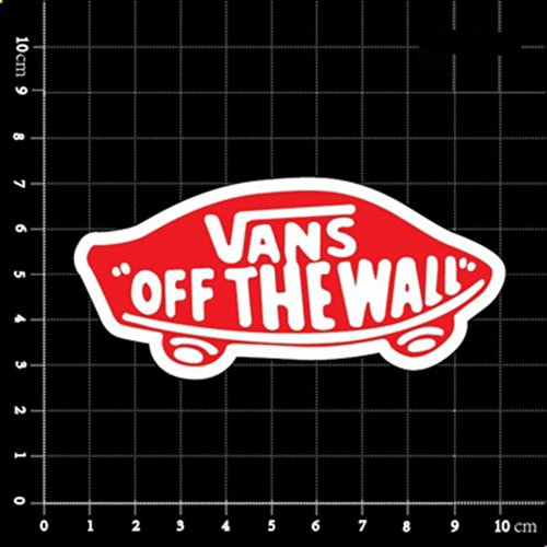 Vans Off The Wall Skateboard Red Brand Logo Classic Decal St