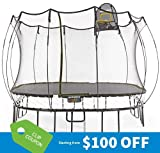 Springfree Trampoline - 11ft Large Square with Basketball Hoop, Ladder, tgoma