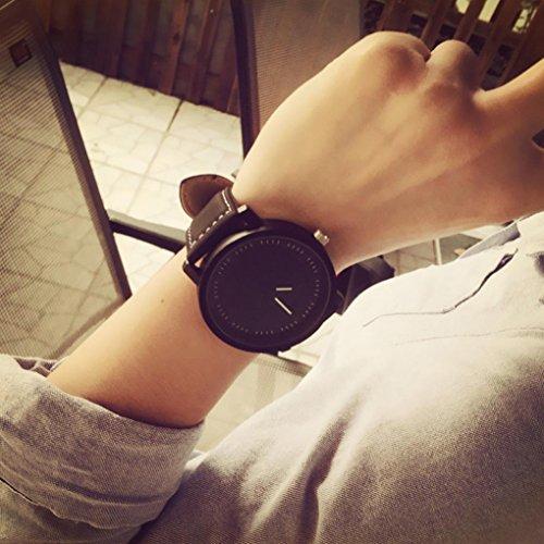 Unisex Men Women Fashion Quartz,Ninasill Analog Wrist Watch Watches(Black)