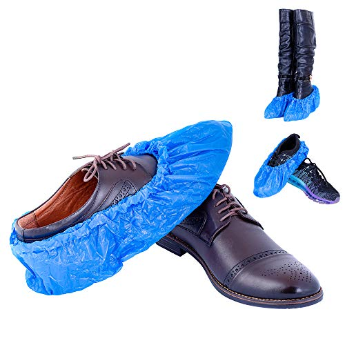 Noblees-ID Extra-Thick Large Disposable Boot, Shoe-Covers | Absolutely Waterproof, Non-slip, Non-skid | Indoor/Outdoor | Protects Carpet, Wood-Floor, kitchen from Dirt | 120 pieces