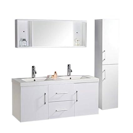 Muebles para baño Modelo White Malibu 120 cm para cuarto de baño con ...
