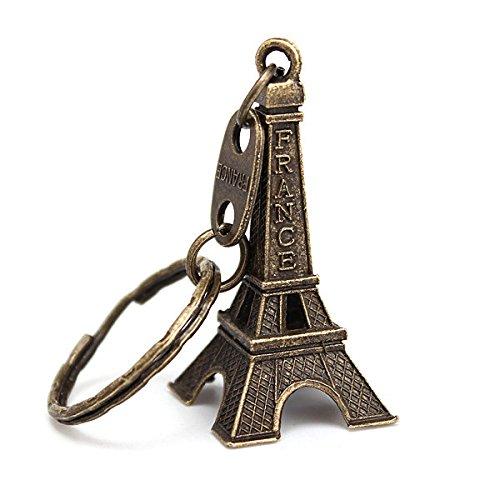 Eros Retro personalizado torre Eiffel de metal llavero lindo ...