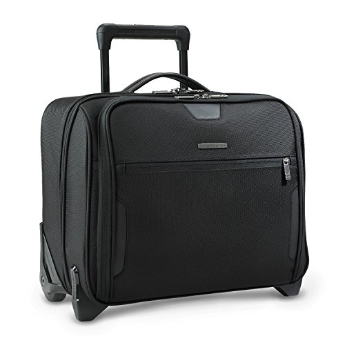 Delsey Briefcase - Briggs & Riley Medium Slim Rolling Brief KR251 (One Size, Black)