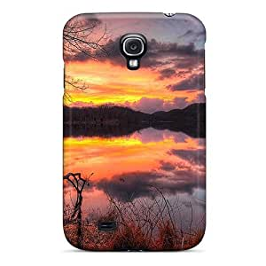 Galaxy S4 Case Bumper Skin Cover For Glorious Sunset Reflection On A Lake Hdr Accessories
