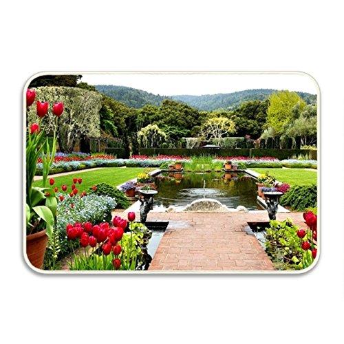 Ranhkdn The Custom Non-slip Doormat Beautiful Spain Roses Entrance Rug Floor Mat Door Mat Rug Indoor/Outdoor/Front Door/Bedroom Mats by Ranhkdn
