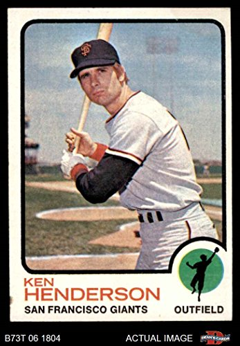 1973 Topps # 101 Ken Henderson San Francisco Giants (Baseball Card) Dean's Cards 4 - VG/EX ()