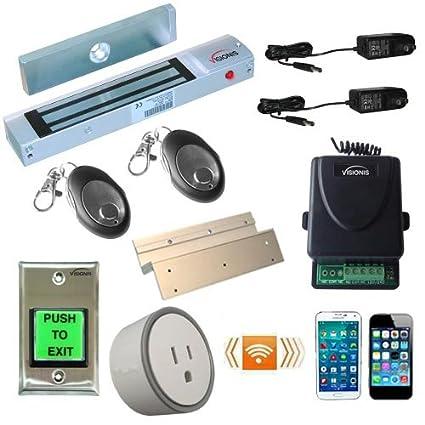 fpc-5209-vs una puerta acceso Control Inswinging puerta 300lbs cerradura electromagnética con vsionis