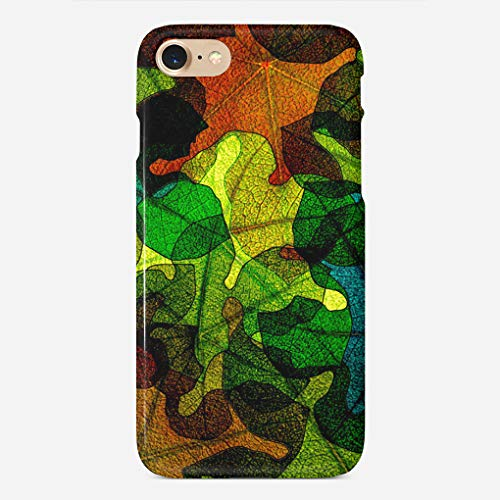 ZHIQCH iPhone 7/8 case Stained Glass Leaves Abstract Art Slim Fit Hard Plastic Cover Cases Full Protective Anti-Scratch Resistant Compatible with iPhone 8/7