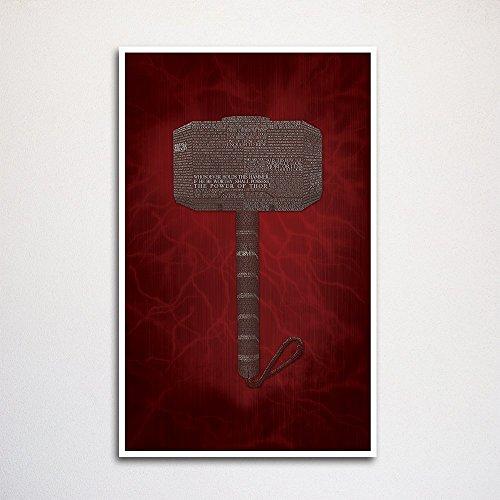 Thor word art print -11x17
