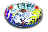 Aqua Leisure Winter Inflatable Round Snow Tube Transparent Sled for 1 ( one ) Single Rider on Sledding Hill, Fast yet Safe, with 2 ( Two ) Big Durable Grip Handles and Repair Kit, 48
