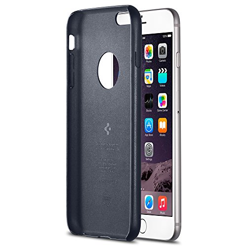 Spigen Schutzhülle für iPhone 6 Plus Case Leather Fit Series Midnight Blue (PET) SGP11397