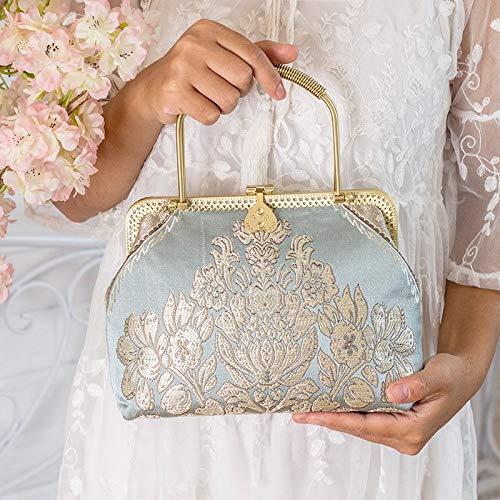 Chooseator Womens Casual Clutch Bag Handmade Fabric Bag Female Banquet Bag