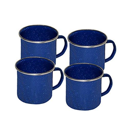 Grip Blue Enamel Coffee Cups (4 Pack) by Grip
