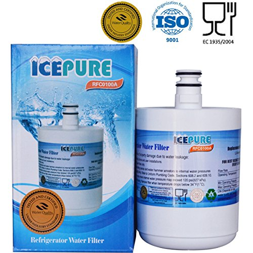 IcePure Refrigerator Water Filter Replacement (1PACK) Compatible with LG LT500P, 5231JA2002, KENMORE 46-9890, SGF-LA22,WF-290, WSL-1, ADQ72910901, ADQ72910902 and more