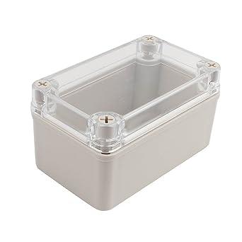 sourcingmap 130x80x70mm Caja de conexiones de Cubierta transparente Caja Electrónica de Proyectos: Amazon.es: Industria, empresas y ciencia
