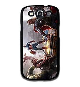 Tomhousomick Custom Design The Avengers Spider-Man Captain America The Hulk Thor Ant-Man Black Widow Iron Man Case Cover for Samsung Galaxy S3 I9300 2015 Hot Fashion Style Kimberly Kurzendoerfer