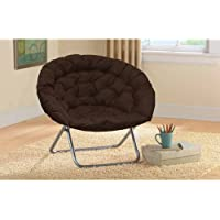 Urban Shop Oversized Saucer Chair (Dark Brown)