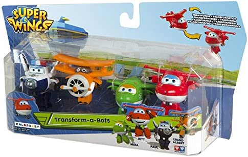 Super Wings Lote 4 transformables: Jett, Mira, Paul y Grand Albert (Colorbaby 75866) , color/modelo surtido: Amazon.es: Juguetes y juegos