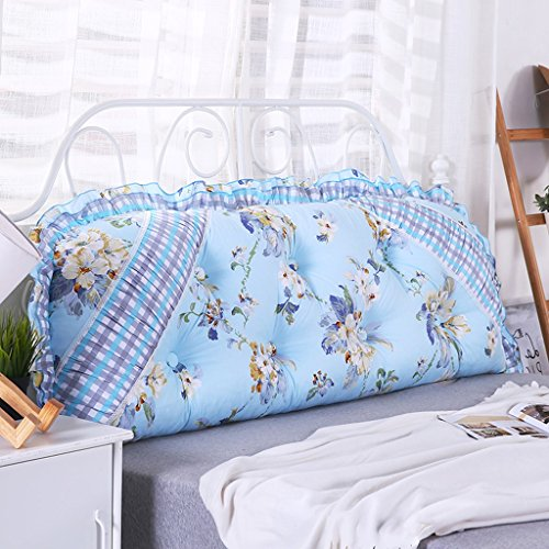 PIAOLING Cotton Korean Big Cushions, Three-Dimensional Soft Backrest Bed, Sofa Cushion Cover with Core (Color : A, Size : 9550CM)