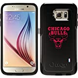 Chicago Bulls - One Color Logo design on Black OtterBox Commuter Series Case for Samsung Galaxy S6