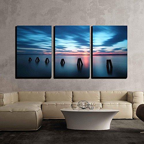Ocean Sunset x3 Panels