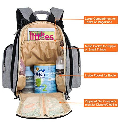 mancro diaper bag backpack organizer back pack for mom dad with baby strol. Black Bedroom Furniture Sets. Home Design Ideas