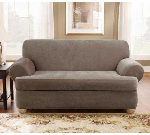 PIQUE T CUSHION SOFA//COUCH COVERS---BEIGE---COMES IN MANY COLORS-TOP QUALITY