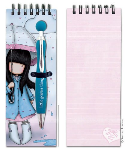 UPC 607895510067, Gorjuss Jotter Pad with Pen - Puddles of Love