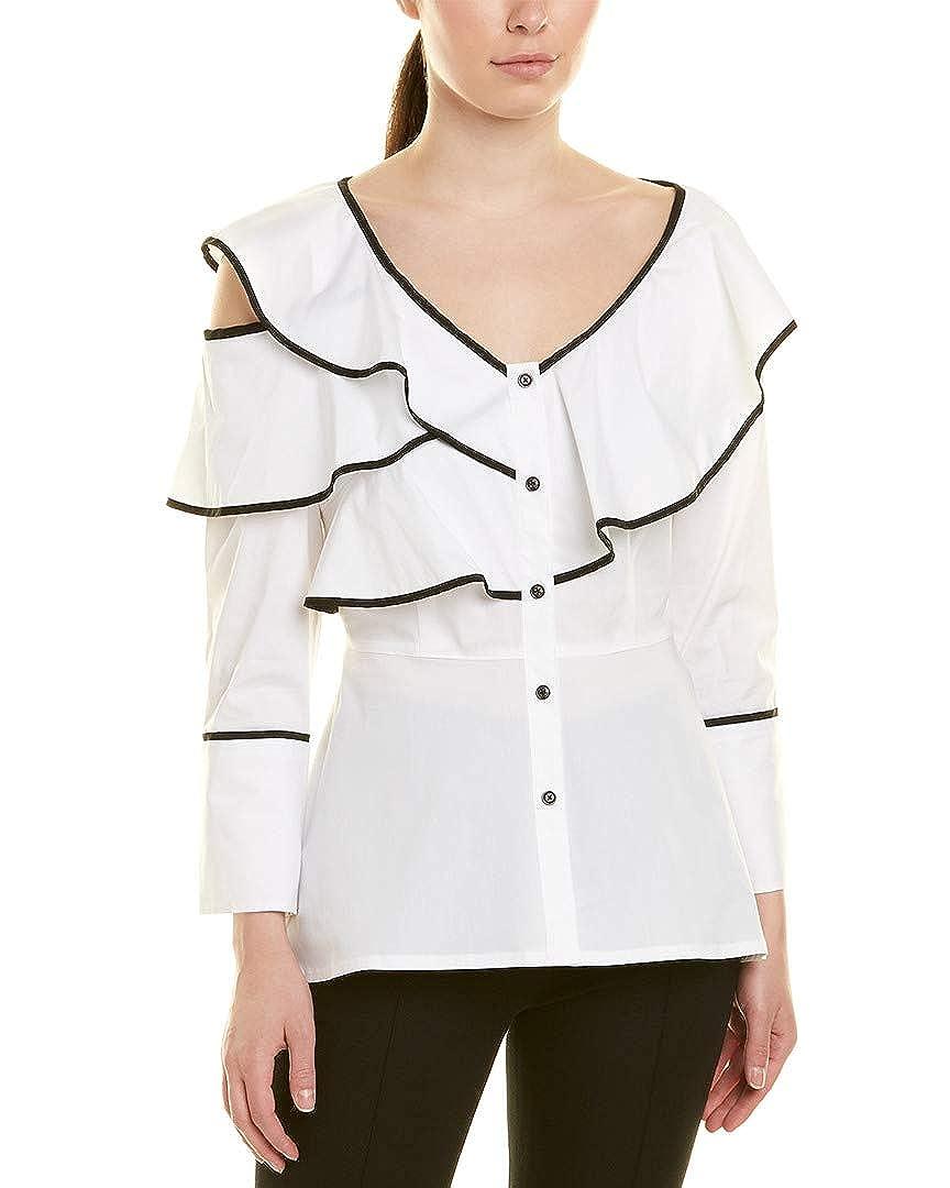 XL Donna Karan Womens Blouse White
