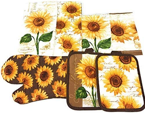 Mainstay Sunflower Kitchen Holders dishcloths