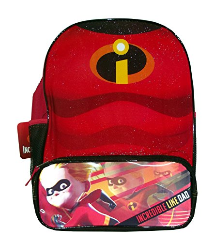 Incredibles ''Chest'' 16'' Backpack with 1 Lower Pocket & 2 side mesh pockets by UPD