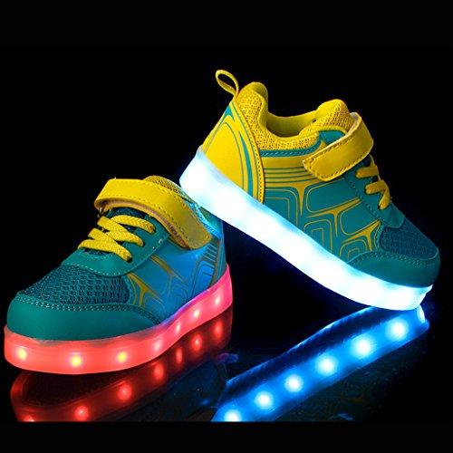 4e57d902 ... DoGeek Zapatos LED Niños Niñas Negras Blanco 7 Color USB Carga LED  Zapatillas Luces Luminosos Zapatillas ...