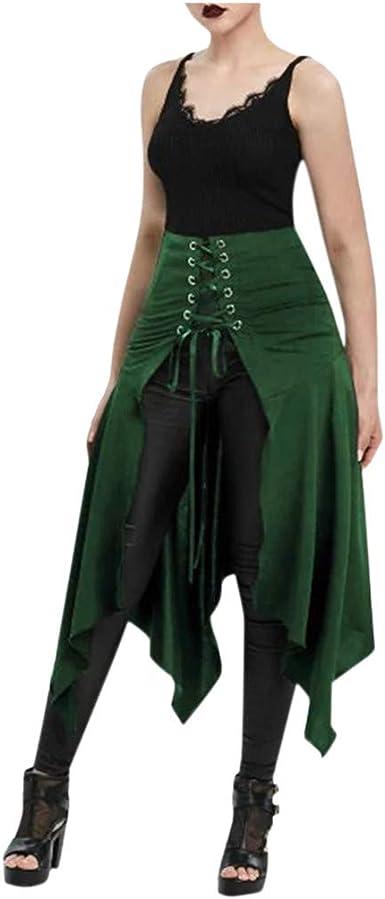 Sylar Faldas De Mujer Negro Punk Irregular Falda Flamenco ...
