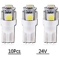 Grandview 10pcs 24V Blanco T10 501 Bombillas LED