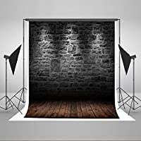 5x7ft Dark Brick Wall Photographic Background Backdrop Wood Floor Photo Wall Baby Backdrop for Photographers J01209