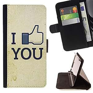 For LG G3 - Funny I Like You FB /Funda de piel cubierta de la carpeta Foilo con cierre magn???¡¯????tico/ - Super Marley Shop -