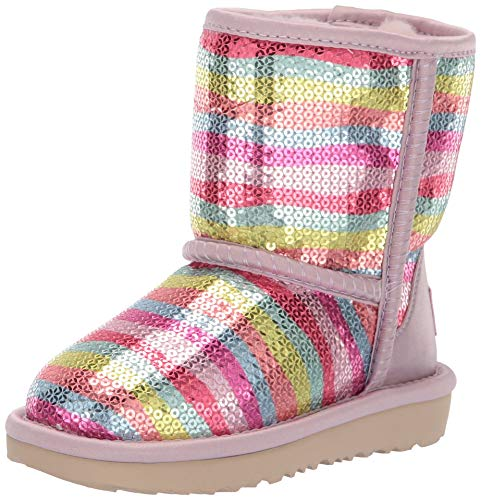 UGG Girls' T Classic Short II Mural Fashion Boot Rainbow 10 M US Toddler -