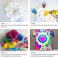 Vanstek Tie Dye Diy Kit 20 Colors Tie Dye Shirt Fabric Dye For Women Kids Men With Rubber Bands Gloves Plastic Film And Table Covers For Family