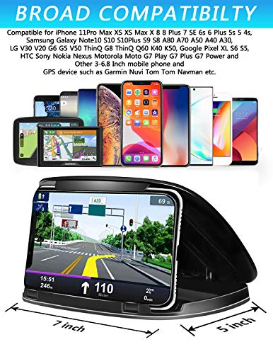 Car Phone Holder Dashboard, Cell Car Phone Mount, Durable Dash Cell Phone Holder for Car Cradle Compatible for iPhone 11 Pro Max XS XR X 8 8+ 7 7+ 6 Samsung Galaxy Note 10 S10 Smartphones and GPS