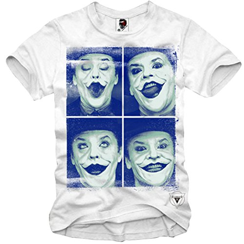 E1SYNDICATE V-NECK T-SHIRT JACK NICHOLSON JOKER BATMAN for sale  Delivered anywhere in USA