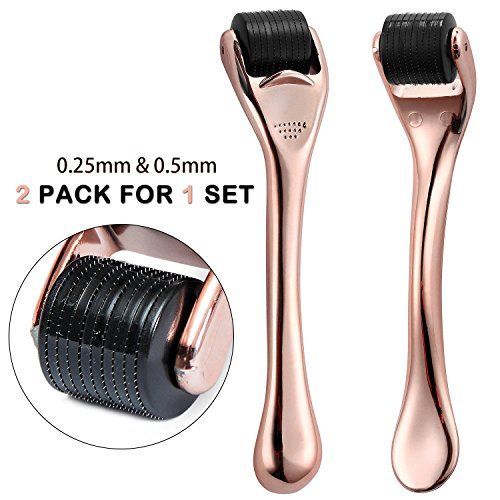 Even Stretch Mark (Derma Beauty Skin Care Tool Roller 0.25mm & 0.5mm Titanium 540 - FDA Approved Derma Roller - Torising)