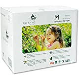 ECO BOOM Baby Bamboo Biodegradable Diapers Infant Nature Disposable Diapers Eco Friendly Nappies for Babies Size M 96 Count-Pack