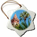 3dRose Hotel Ponce De Leon, Flagler College, Florida Snowflake Ornament, 3''